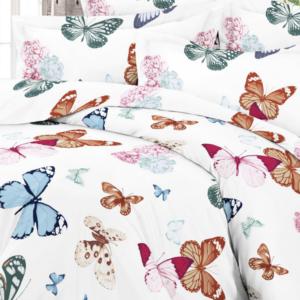 Perhoset satiinipuuvilla pussi lakana
